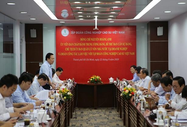 Ủy ban luôn đồng hành, hỗ trợ Tập đoàn Công nghiệp Cao su Việt Nam