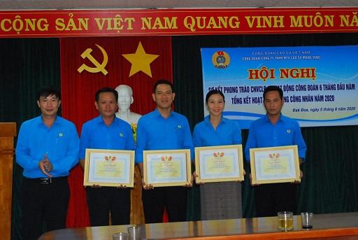 Công đoàn Cao su Mang Yang: Sơ kết 6 tháng đầu năm