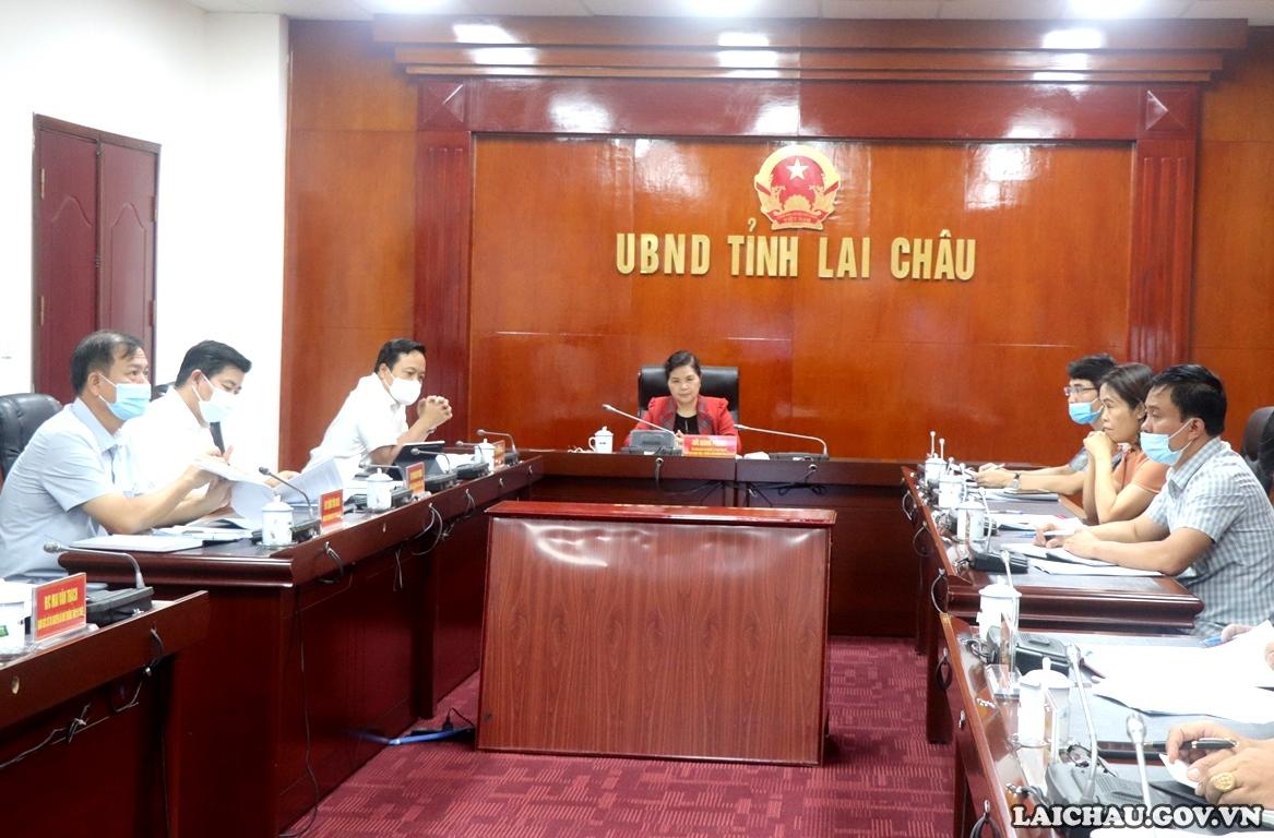 Lai Châu: Họp trực tuyến với Tập đoàn Công nghiệp Cao su Việt Nam