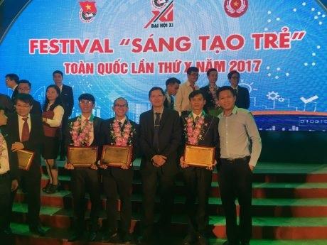 3 đoàn viên thanh niên VRG nhận giải thưởng Sáng tạo trẻ lần thứ X