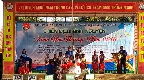 Đoàn Thanh niên Cao su Lộc Ninh tổ chức Xuân yêu thương 2018