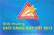 231 thương hiệu vào chung tuyển Giải thưởng Sao Vàng đất Việt 2013