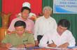 Ký kết quy chế phối hợp bảo vệ dự án vùng trồng Cao su.