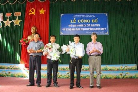 Ông Trần Hoàng Long giữ chức Chủ tịch HĐTV Cao su Bình Long