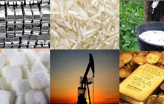 Thị trường hàng hóa ngày 16/3: Cao su và dầu tăng tiếp; nhôm, vàng, đường giảm mạnh, gạo biến động